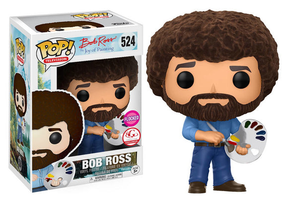 Pop! Television: Bob Ross the Joy of Painting - Bob Ross [Flocked] (Big G Creative Exclusive) *DAMAGED* - Mom's Basement Collectibles
