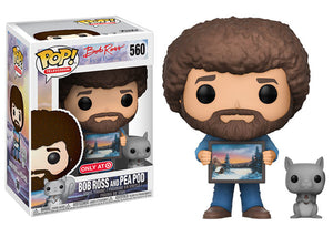 Pop! Television: Bob Ross the Joy of Painting - Bob Ross & Pea Pod (Target Exclusive) - Mom's Basement Collectibles