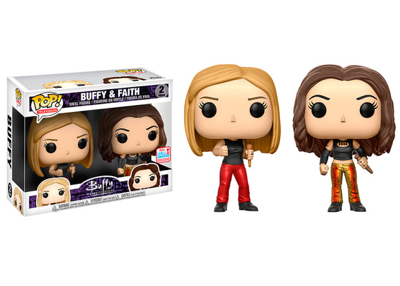 Pop! Television: Buffy the Vampire Slayer - Buffy & Faith 2 Pack (Fall Convention Exclusive 2017) - Mom's Basement Collectibles