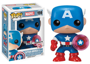 Pop! Marvel - Captain America [Photon Shield] (Kohl's Exclusive No Sticker) - Mom's Basement Collectibles