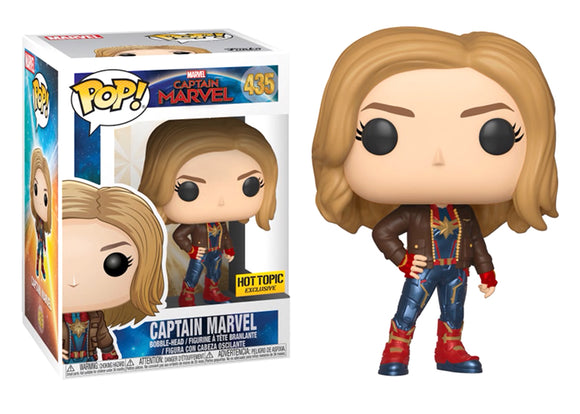 Pop! Marvel: Captain Marvel - Captain Marvel [Leather Jacket] (Hot Topic Exclusive) - Mom's Basement Collectibles