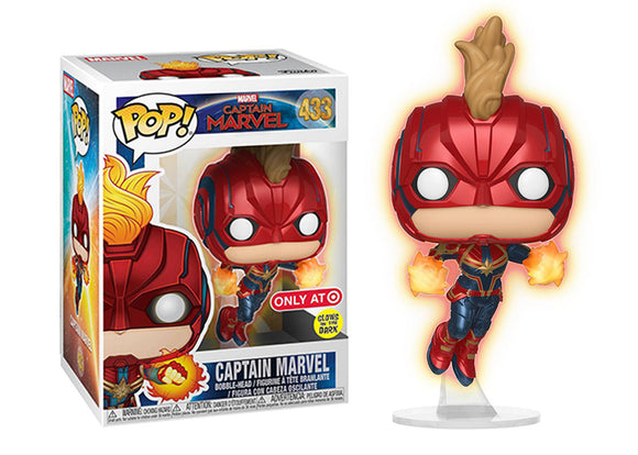 Pop! Marvel: Captain Marvel - Captain Marvel [Flying] (Target Exclusive) - Mom's Basement Collectibles