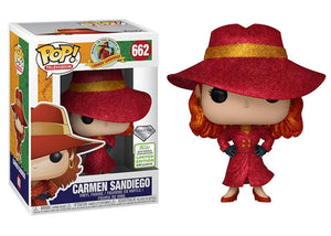 Pop! Television: Where In The World Is Carmen Sandiego? - Carmen Sandiego [Diamond] (Spring Convention Exclusive 2019) - Mom's Basement Collectibles