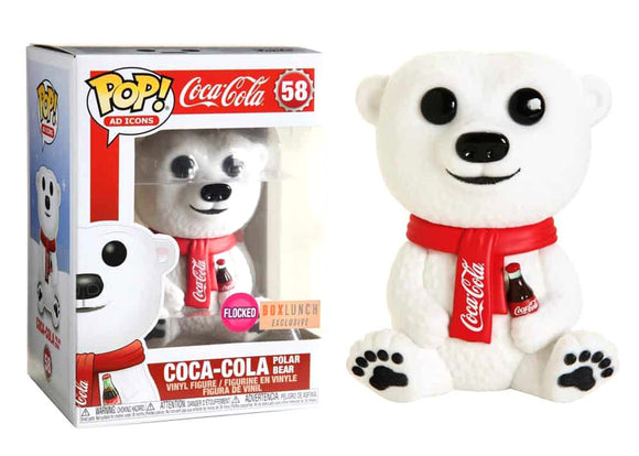 Pop! Ad Icons - Coca-Cola Polar Bear [Flocked] (Box Lunch Exclusive) - Mom's Basement Collectibles
