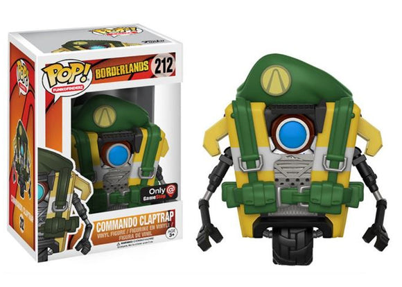 Pop! Games: Borderlands - Commando Claptrap (Gamestop Exclusive) - Mom's Basement Collectibles