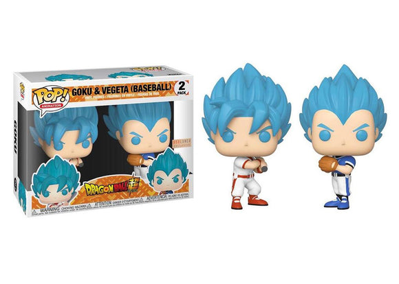 Pop! Animation: Dragon Ball Z - Goku & Vegeta 2 Pack [Baseball] (Box Lunch Exclusive) - Mom's Basement Collectibles
