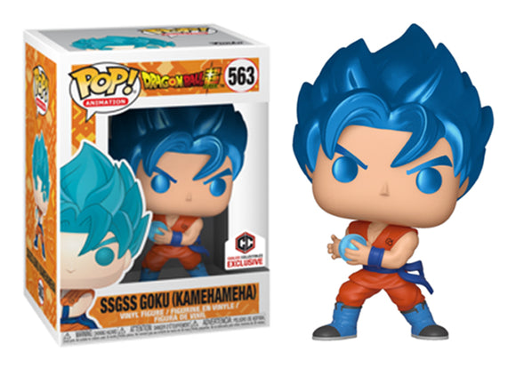 Pop! Animation: Dragon Ball Super - SSGSS Goku [Kamehameha] (Chalice Exclusive) - Mom's Basement Collectibles