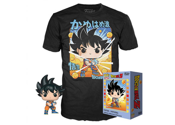 Pop! Animation: Dragon Ball Z - Goku (Kamehameha) & T-Shirt [Medium] (Gamestop Exclusive) - Mom's Basement Collectibles
