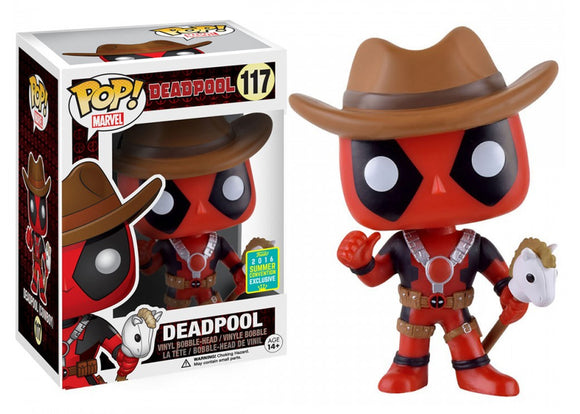 Pop! Marvel - Deadpool [Cowboy Hat] (Summer Convention Exclusive 2016) - Mom's Basement Collectibles