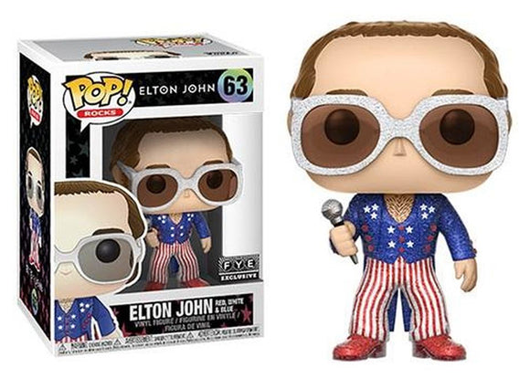 Pop! Rocks - Elton John [Red, White, & Blue Glitter] (FYE Exclusive) - Mom's Basement Collectibles