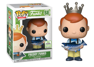 Pop! Funko - Freddy Funko [Fish w/Yellow Pants] (Spring Convention Exclusive 2019) - Mom's Basement Collectibles