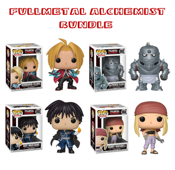 Bundle: Pop! Animation: Fullmetal Alchemist Set - Mom's Basement Collectibles