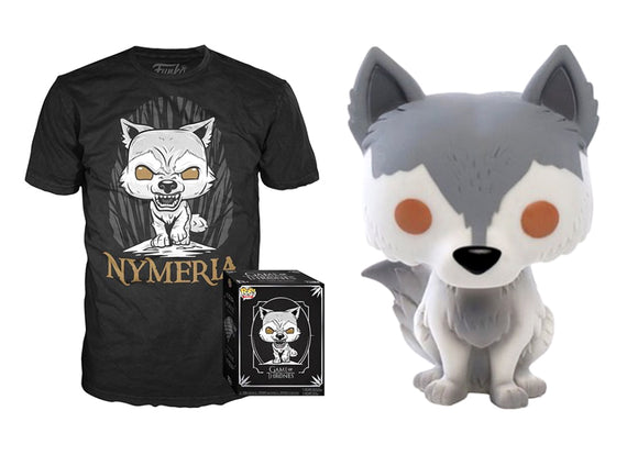Pop! Game Of Thrones: Nymeria & T-Shirt [Medium] (Hot Topic Exclusive) - Mom's Basement Collectibles
