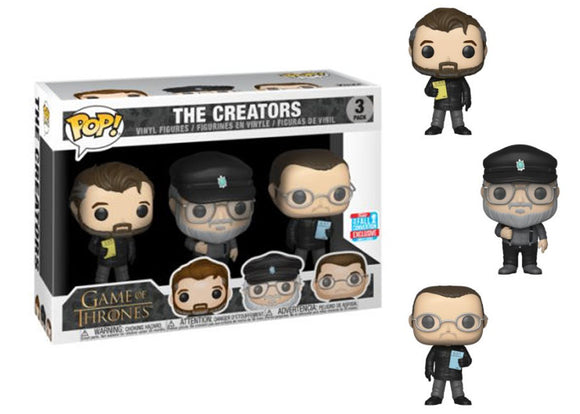 Pop! Game Of Thrones - The Creators 3 Pack (Fall Convention Exclusive 2018) - Mom's Basement Collectibles