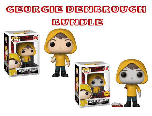 Bundle: Pop! Movies: It - Georgie Denbrough CHASE - Mom's Basement Collectibles