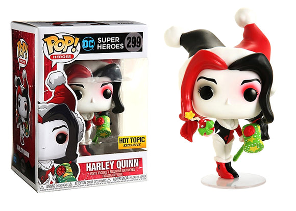 Pop! Heroes - Harley Quinn [Holidays] (Hot Topic Exclusive) - Mom's Basement Collectibles