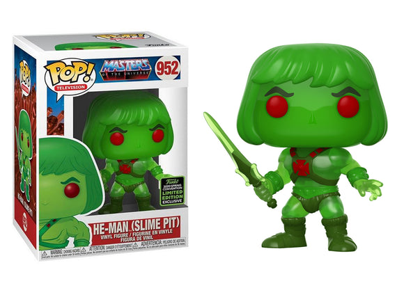 Pop! Television: Masters of the Universe - He-Man [Slime Pit] (Spring Convention Exclusive 2020) - Mom's Basement Collectibles