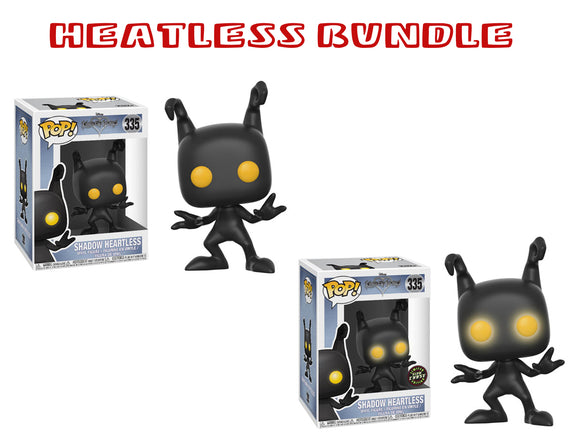 Bundle: Pop! Disney: Kingdom Hearts - Shadow Heartless GLOW CHASE Set - Mom's Basement Collectibles