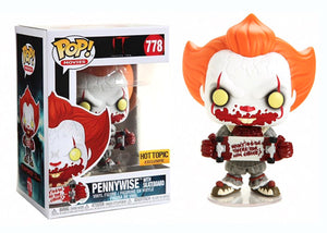 Pop! Movies: It Chapter 2 - Pennywise w/ Skateboard (Hot Topic Exclusive) - Mom's Basement Collectibles