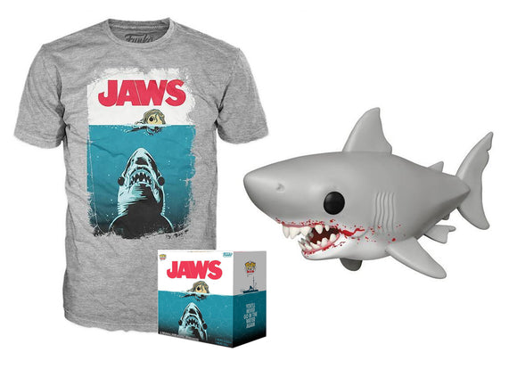 Pop! Movies: Jaws & T-Shirt [Large] (Target Exclusive) - Mom's Basement Collectibles