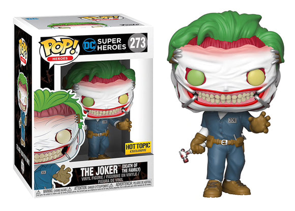 Pop! Heroes - The Joker [Death of the Family] (Hot Topic Exclusive) - Mom's Basement Collectibles