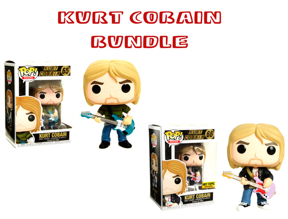 Bundle: Pop! Rocks - Kurt Cobain Set - Mom's Basement Collectibles