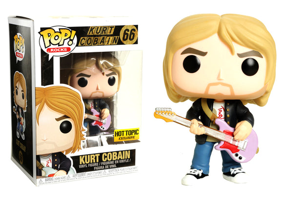 Pop! Rocks - Kurt Cobain [Leather Jacket] (Hot Topic Exclusive) - Mom's Basement Collectibles