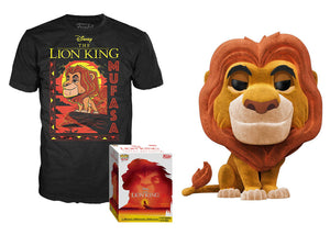 Pop! Disney: The Lion King - Mufasa [Flocked] & T-Shirt [Small] (Target Exclusive) - Mom's Basement Collectibles