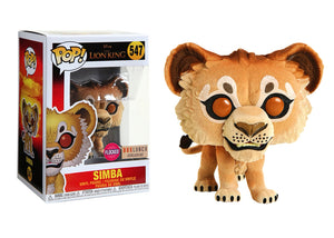 Pop! Disney: The Lion King - Simba [Flocked] (Box Lunch Exclusive) - Mom's Basement Collectibles