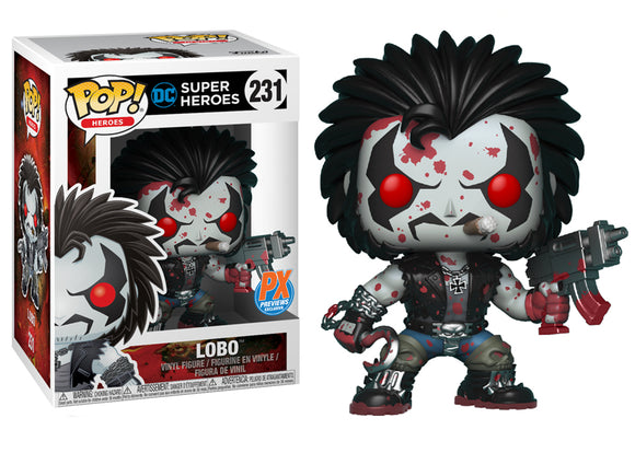 Pop! Heroes - Lobo [Bloody] (PX Exclusive) - Mom's Basement Collectibles