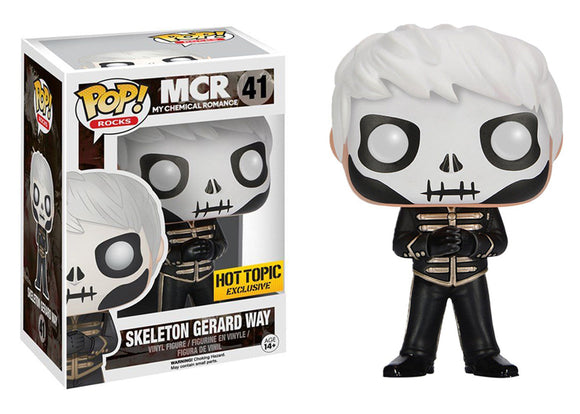 Pop! Rocks: My Chemical Romance - Skeleton Gerard Way (Hot Topic Exclusive) - Mom's Basement Collectibles