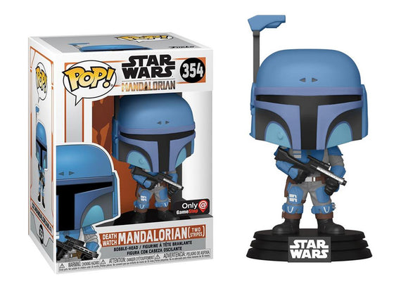 Pop! Star Wars: The Mandalorian - Deathwatch Mandalorian [Two Stripes] (Gamestop Exclusive) - Mom's Basement Collectibles