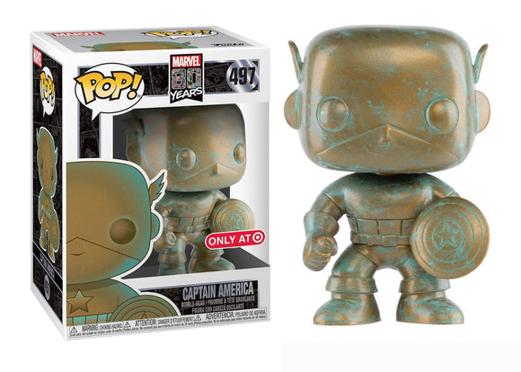 Pop! Marvel: Marvel 80 Years - Captain America [Patina] (Target Exclusive) - Mom's Basement Collectibles