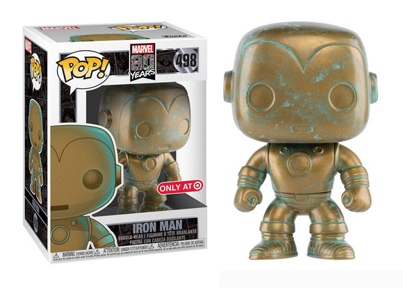 Pop! Marvel: Marvel 80 Years - Iron Man [Patina] (Target Exclusive) - Mom's Basement Collectibles