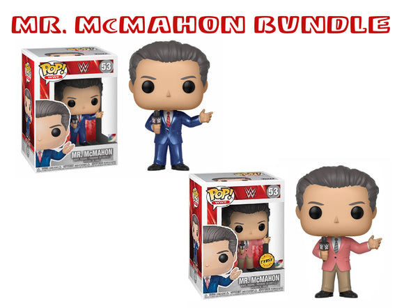 Bundle: Pop! WWE - Mr. McMahon CHASE - Mom's Basement Collectibles