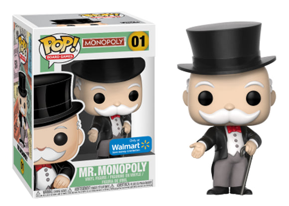 Pop! Board Games: Monopoly - Mr. Monopoly (Walmart Exclusive) - Mom's Basement Collectibles