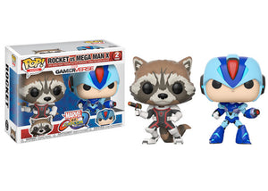Pop! Games: Marvel VS Capcom Infinite - Rocket Raccoon VS Mega Man - Mom's Basement Collectibles