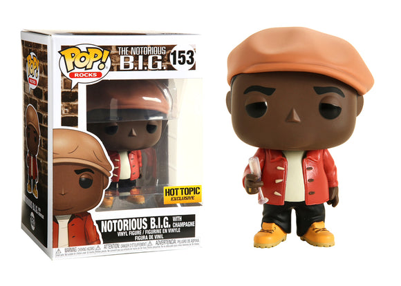 Pop! Rocks - The Notorious B.I.G. w/ Champagne (Hot Topic Exclusive) - Mom's Basement Collectibles