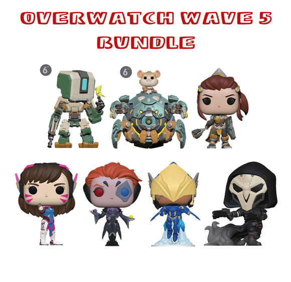 Bundle: Pop! Games: Overwatch Wave 5 - Mom's Basement Collectibles