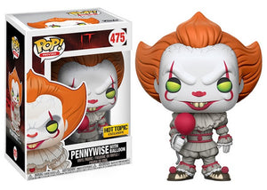 Pop! Movies: It - Pennywise with Balloon (Hot Topic Exclusive) - Mom's Basement Collectibles