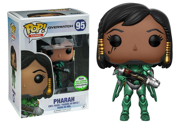 Pop! Games: Overwatch - Pharah [Emerald] (Spring Convention Exclusive 2017) *DAMAGED* - Mom's Basement Collectibles