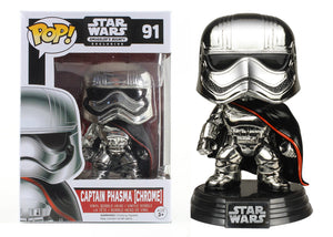 Pop! Star Wars - Captain Phasma [Chrome] (Smuggler's Bounty Exclusive) - Mom's Basement Collectibles