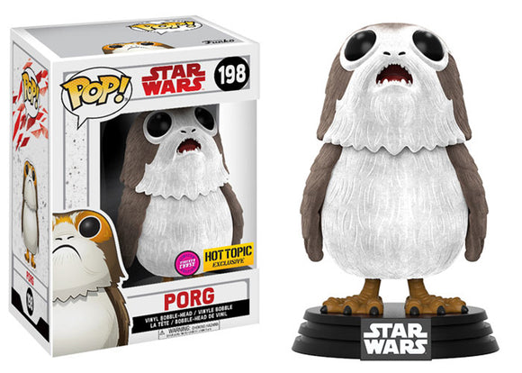 Pop! Star Wars - Porg [Flocked] (Hot Topic Exclusive Chase) - Mom's Basement Collectibles