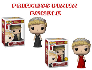 Bundle: Pop! Royals - Diana [Princess Of Wales] CHASE - Mom's Basement Collectibles