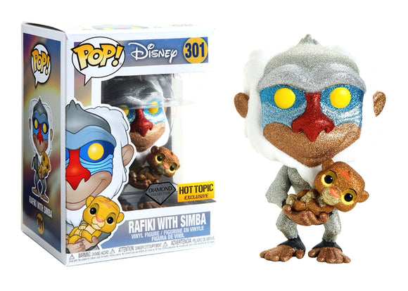 Pop! Disney - Rafiki With Simba [Diamond] (Hot Topic Exclusive) - Mom's Basement Collectibles