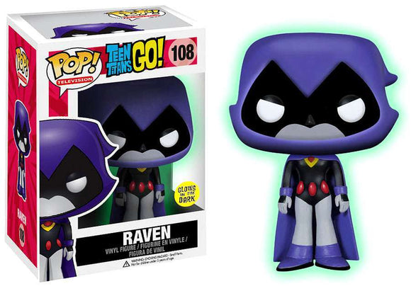 Pop! Television: Teen Titans Go! - Raven [Glow In The Dark] (Toys R Us Exclusive) - Mom's Basement Collectibles