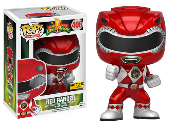 Pop! Television: Mighty Morphin Power Rangers - Red Ranger (Hot Topic Exclusive Metallic) - Mom's Basement Collectibles