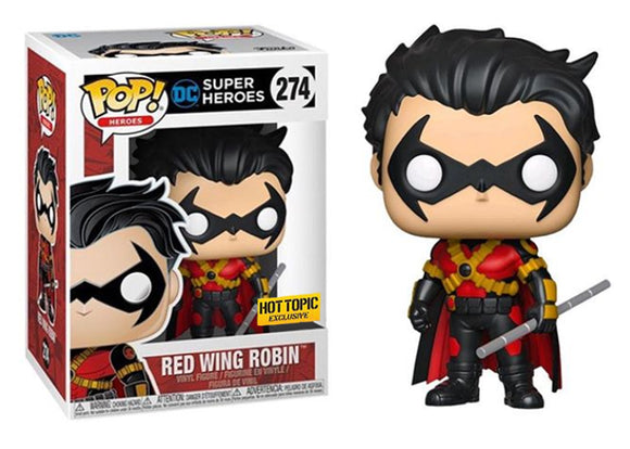 Pop! Heroes - Red Wing Robin (Hot Topic Exclusive) - Mom's Basement Collectibles
