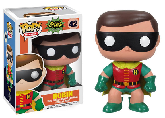 Pop! Heroes: Batman Classic TV Series - Robin *DAMAGED* - Mom's Basement Collectibles