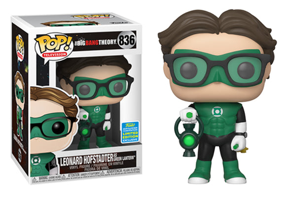 Pop! Television: The Big Bang Theory - Leonard Hofstadter [Green Lantern] (Summer Convention Exclusive 2019) - Mom's Basement Collectibles